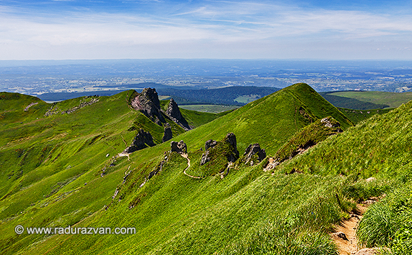 Footpath in Puy de Sancy Mountain